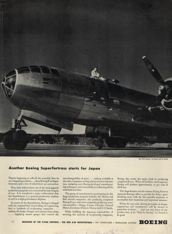 Image for Another Boeing B-29 Stratofortress starts for Japan ad 1944 L