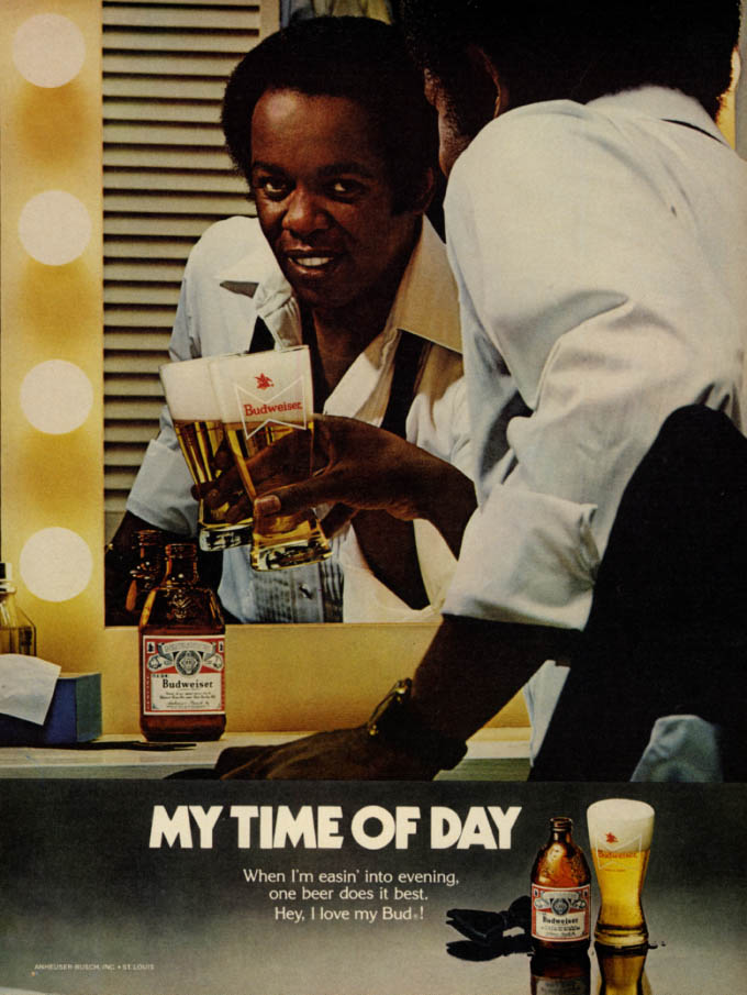 Image for My time of day says Lou Rawls for Budweiser Beer ad 1978 EB