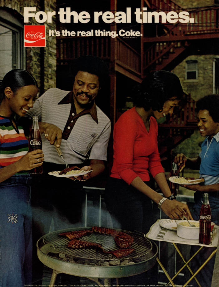 Image for For the real times Coca-Cola ad 1975 black family cookout EB