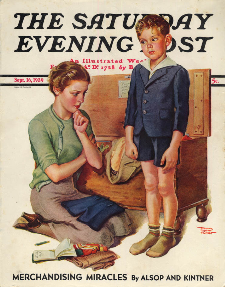 Image for SATURDAY EVENING POST COVER 1939 Growing boy by Frances Tipton Hunter