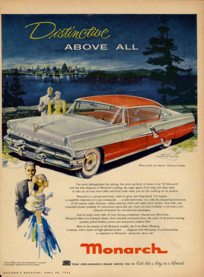 Image for Distinctive above all Canadian Monarch Richlieu Phaeton ad 1956 Mercury