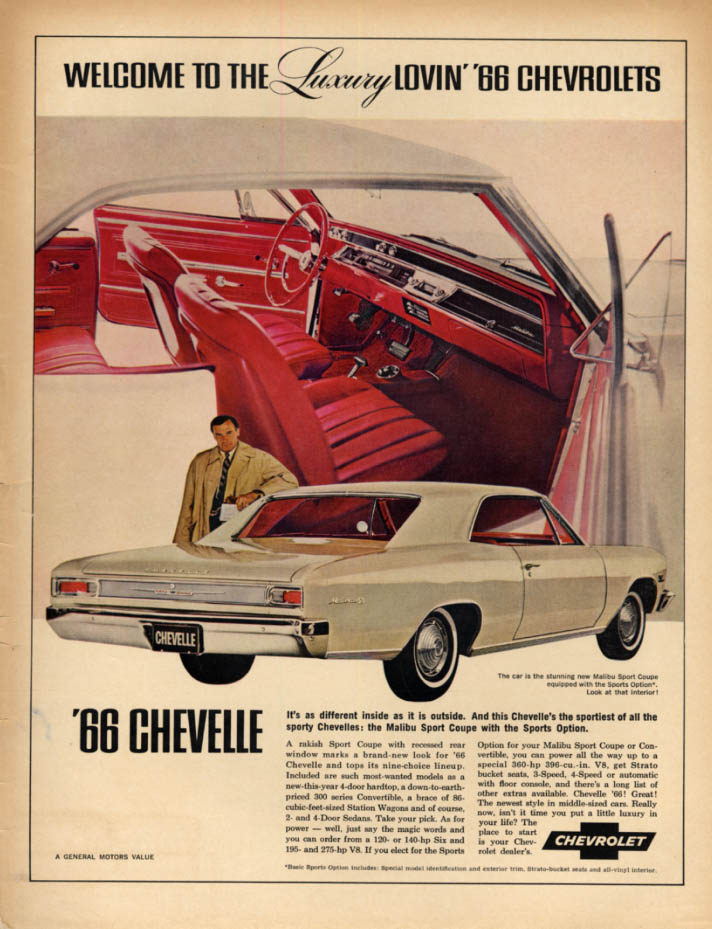 Image for Welcome to the Luxury Lovin' Chevrolet Chevelle SS ad 1966 Canada