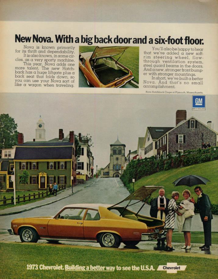 Image for Chevrolet Nova - with a big back door and a six-foot floor ad 1973 L