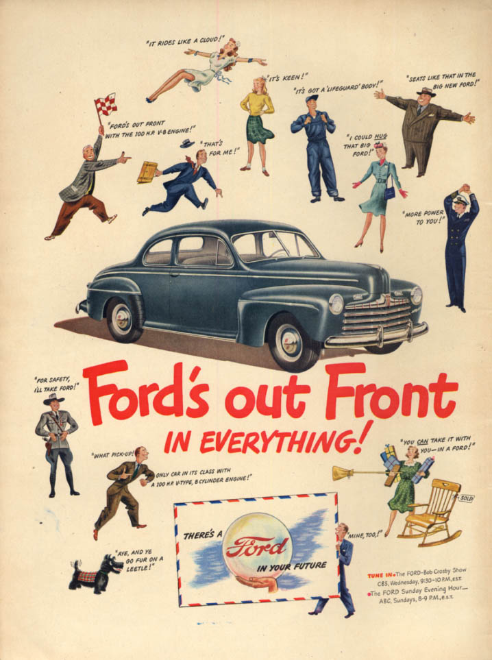 Image for Ford's out front in everything! Ford Coupe ad 1946 L