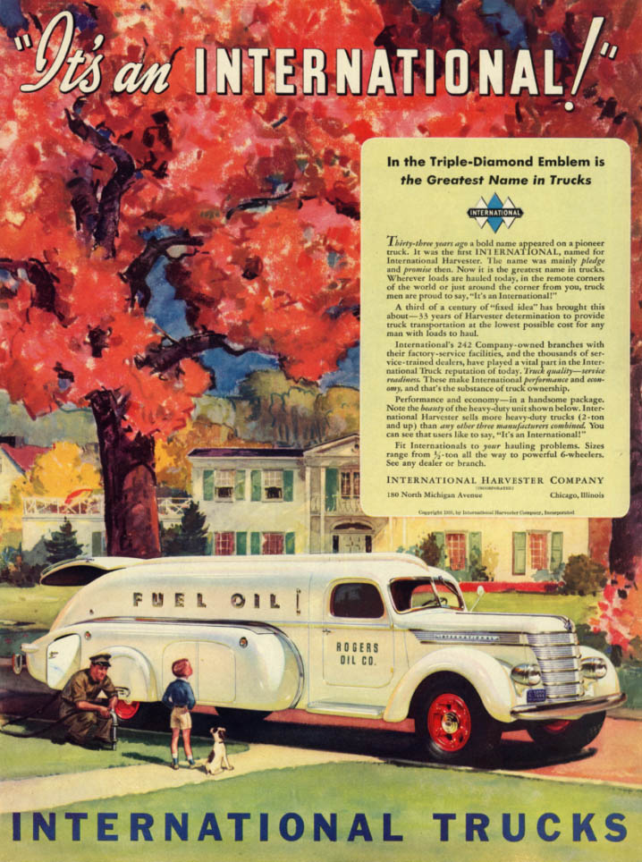 Image for It's an International Rogers Fuel Oil Truck ad 1939 L