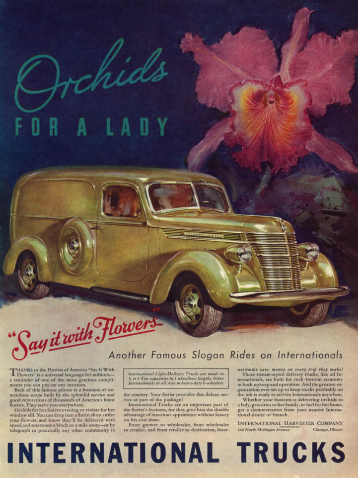 Image for Orchids for a Lady - International Panel Delivery Truck ad 1939 L