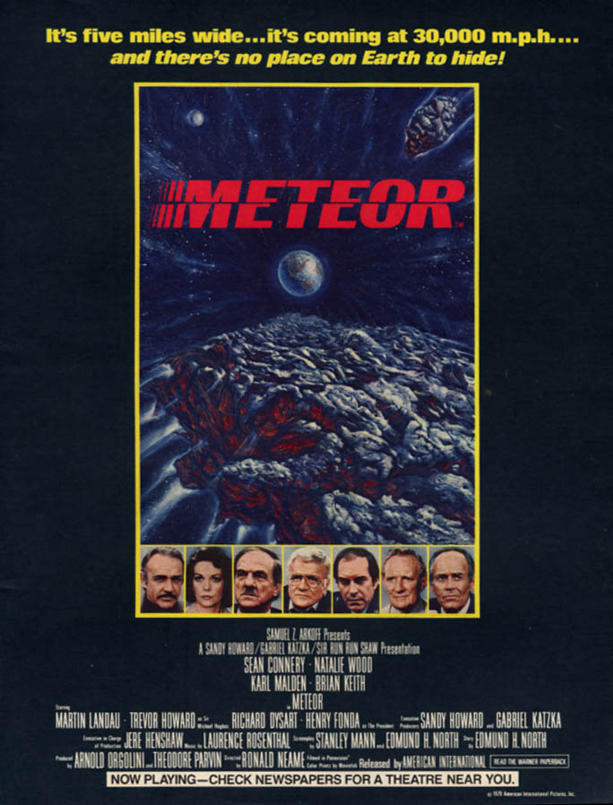 Image for Meteor MOVIE MAGAZINE AD 1979 Connery Natalie Wood Malden Fonda L