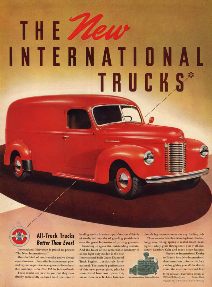 The New International Panel Truck- better than ever! Ad 1941 L