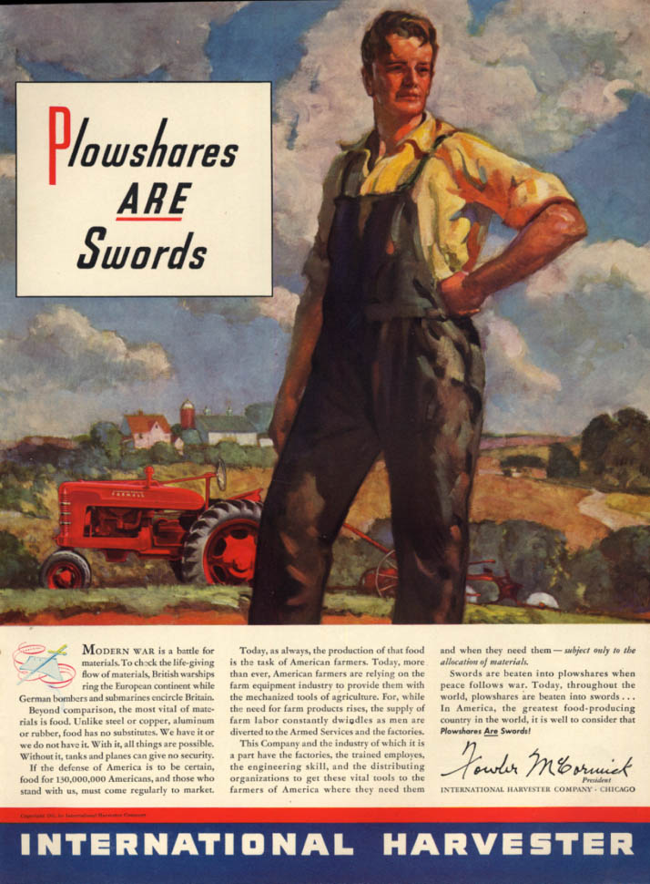 Image for Plowshares ARE Swords - International Harvester Tractor ad 19141 L