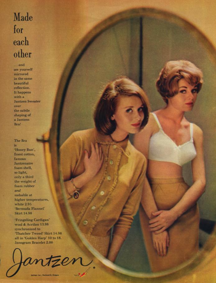 Image for Made for each other Jantzen Honey Bun Bra ad 1959 17