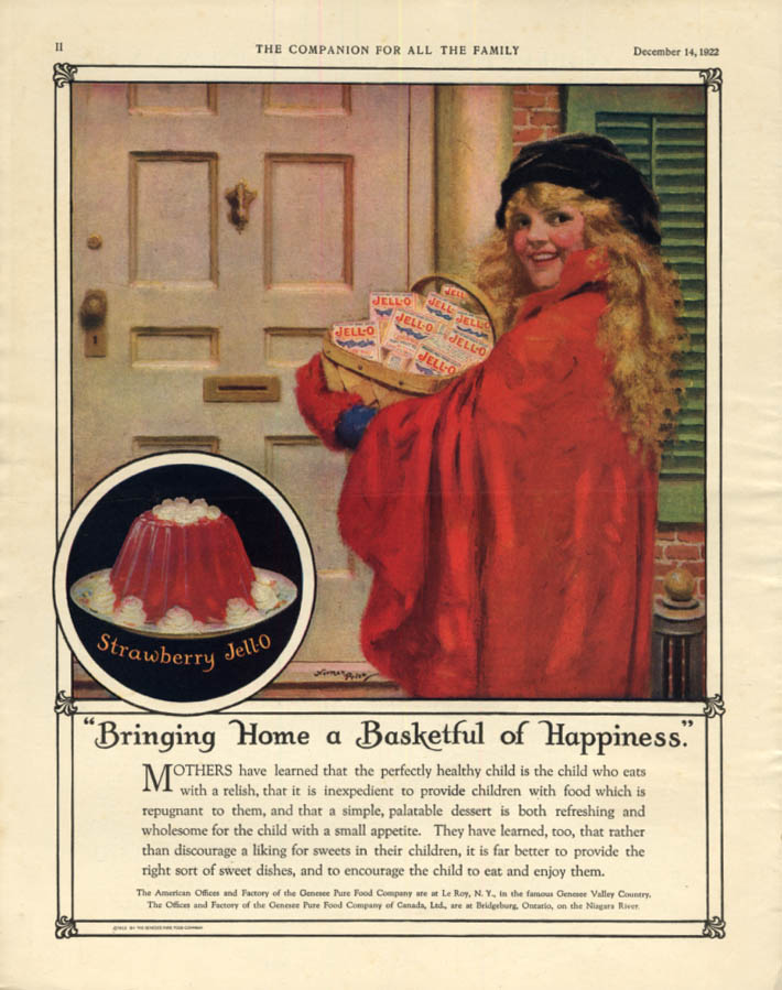 Image for Bringing Home a Basketful of Happiness - Jell-O ad 1922 Norman Price