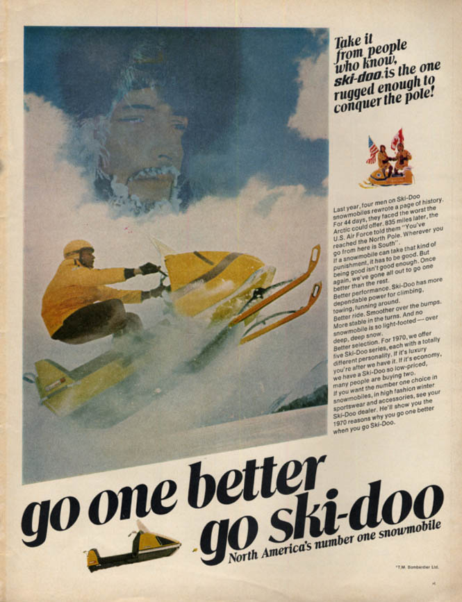 Go One Better - Go Ski-Doo snowmobile ad 1969 L