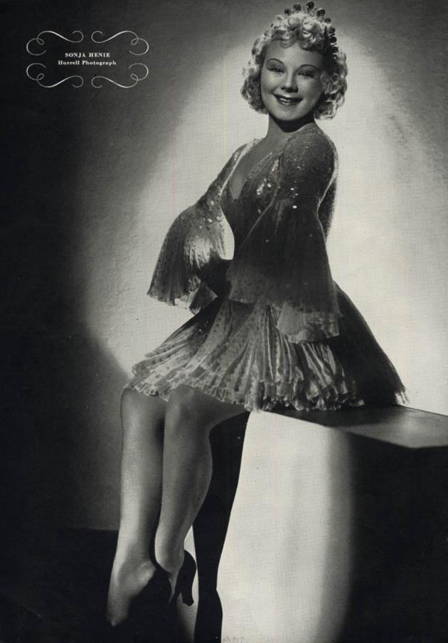 Hurrell Esquire page: Sonja Henie / Barbara Stanwyck 1937