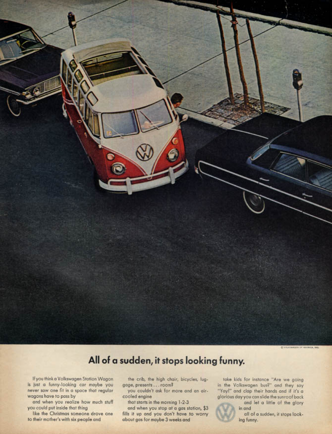 All of a sudden it stops looking funny Volkswagen Station Wagon ad 1964 L