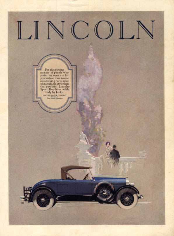 Image for For a growing number of people who prefer an open car Lincoln Roadster ad 1926