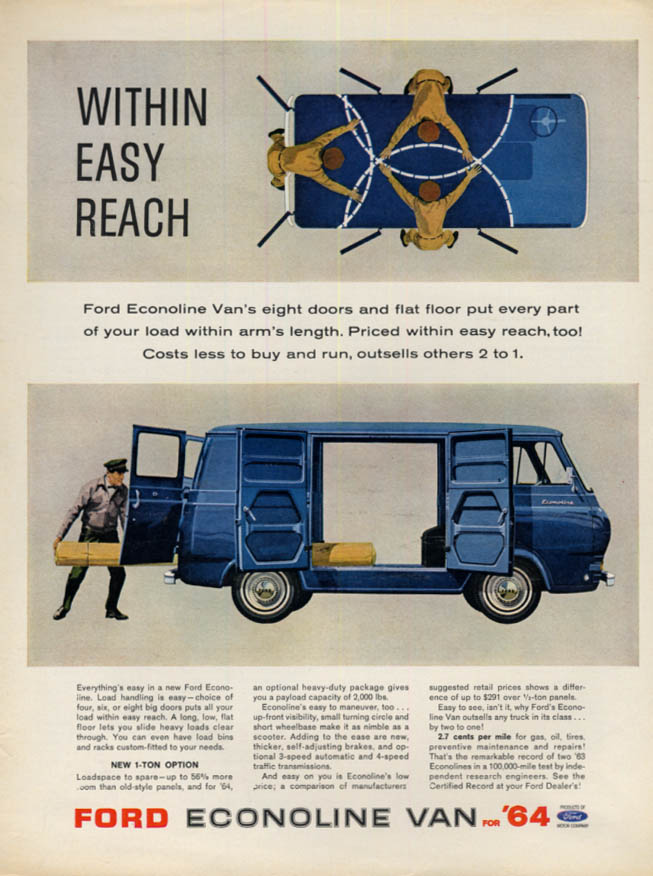 Within Easy Reach Ford Econoline Van ad 1964