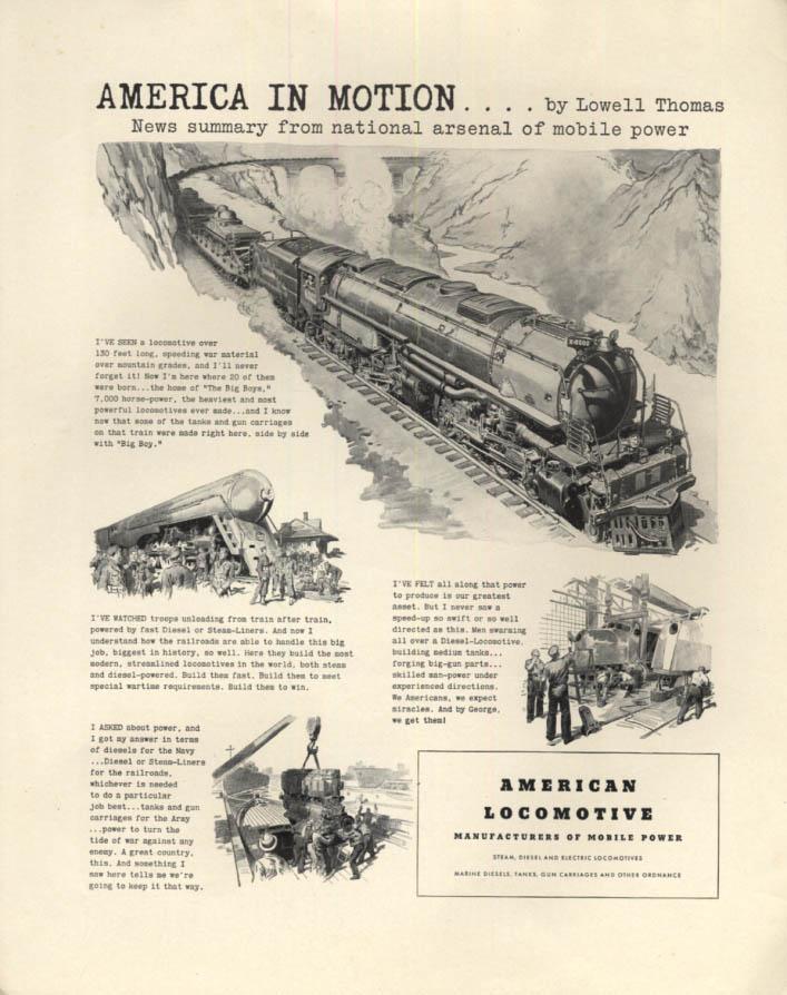Image for America in Motion - American Locomotive 4-8-8-4 Big Boy ad 1942 F