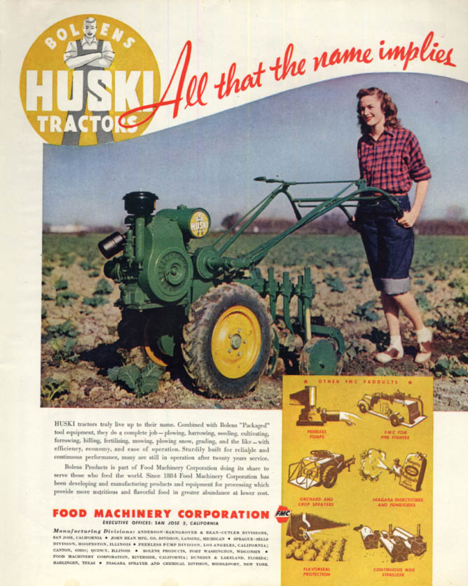 Image for All that the name implies Bolens Hucki Tractor ad 1947 F