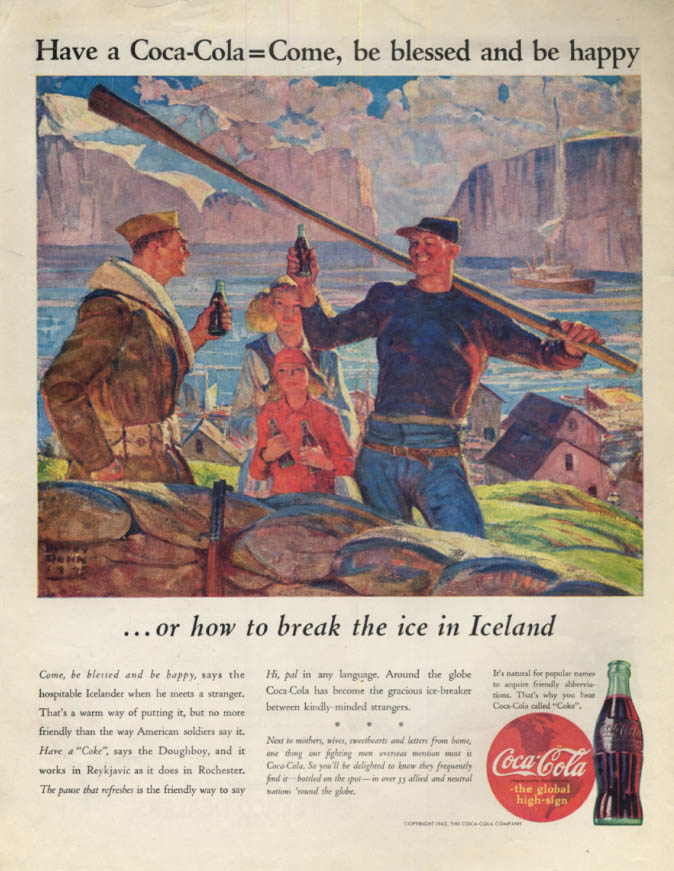 Image for Break the ice in Iceland - Have a Coca-Cola ad 1943 Col