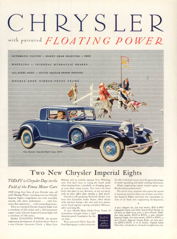 Image for The Two New Chrysler Imperial Eight Coupe ad 1932 H&G