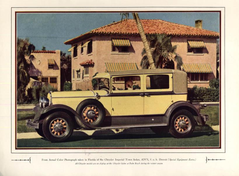 Image for Chrysler Imperial Town Sedan $2975 in Florida ad 1930 H&G