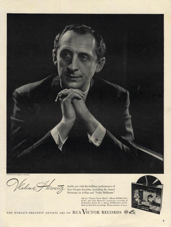 Image for Vladimir Horowitz for RCA Victor Records ad 1946 Karsh artwork L