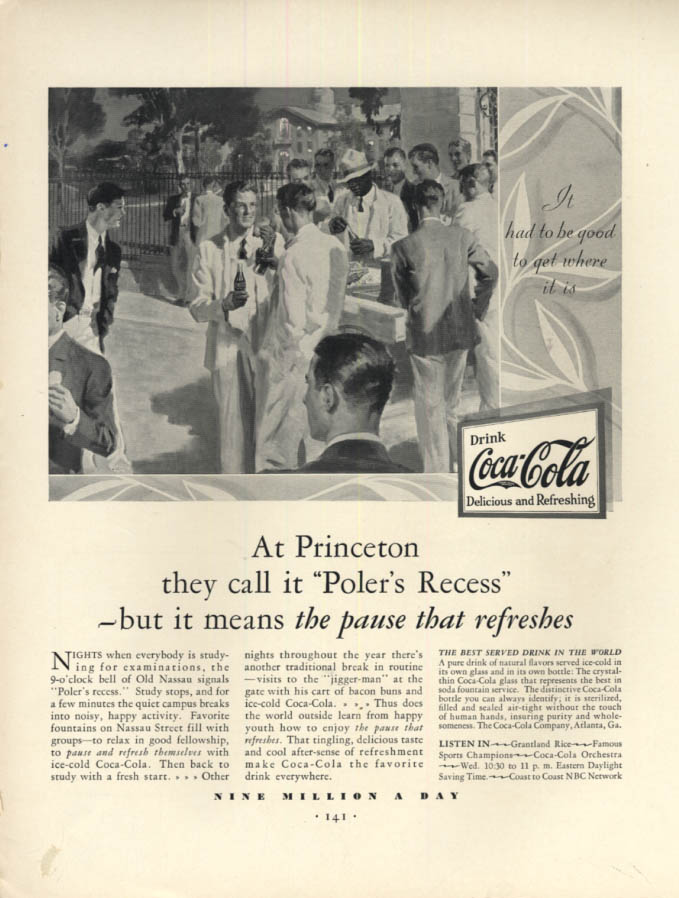 Image for At Princeton they call it Poler's Recess: Coca-Cola ad 1930 F