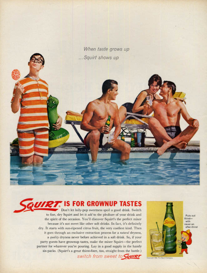 Image for When taste grows up Squirt for Grownup Tastes shows up ad 1962 L