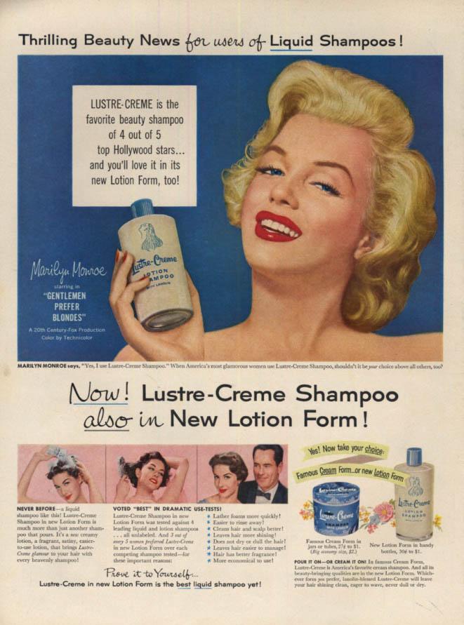 Image for Marilyn Monroe for Lustre-Crème Shampoo ad 1953 L