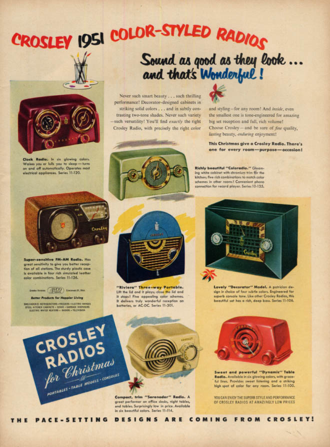 Image for Sound as good as they look Crosley Color-Styled Radios ad 1950 L