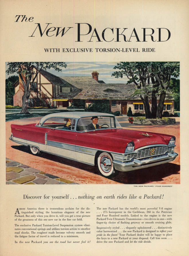 Image for Discover yourself - nothing rides like a Packard Four Hundred Hardtop ad 1955 L