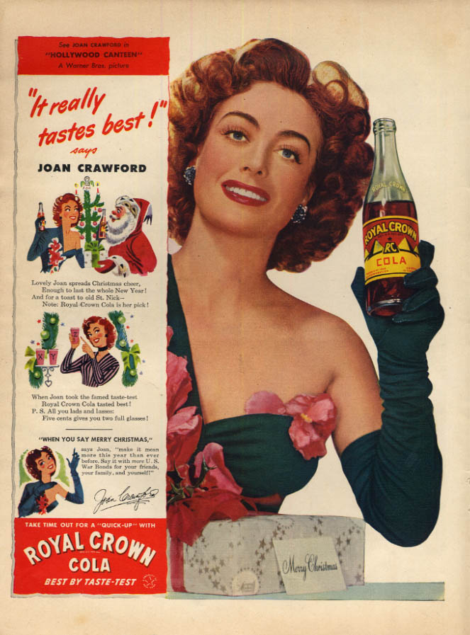 Image for Joan Crawford for Royal Crown RC Cola ad 1944 L