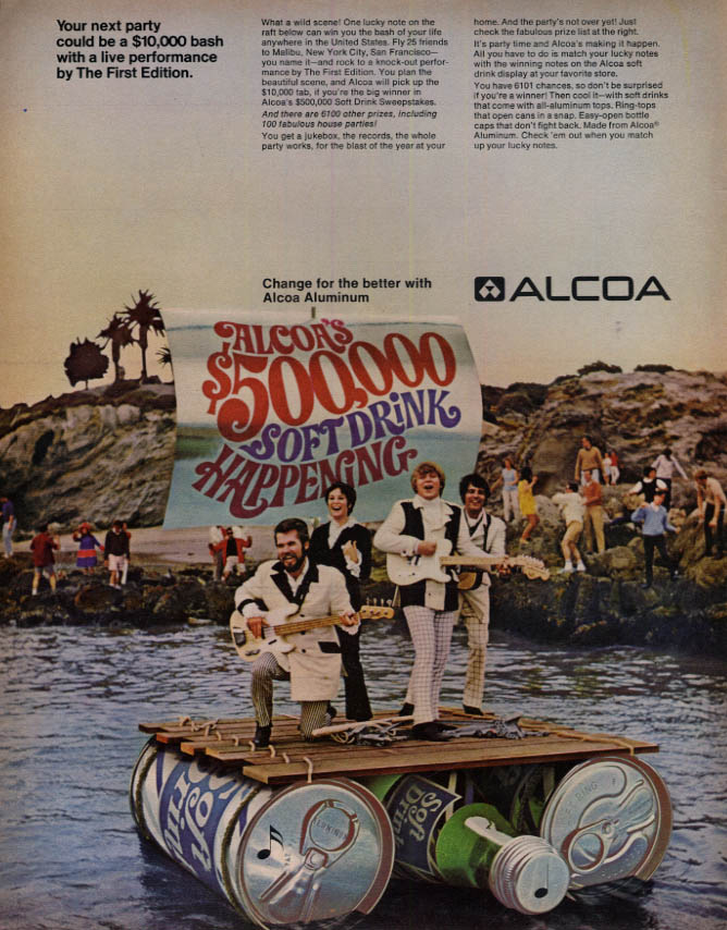 Image for A Live Performance by The First Edition Rock Band Alcoa Aluminum contest ad 1968