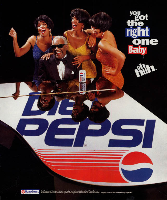 Image for Ray Charles & the Singers for Diet Pepsi ad 1992 L