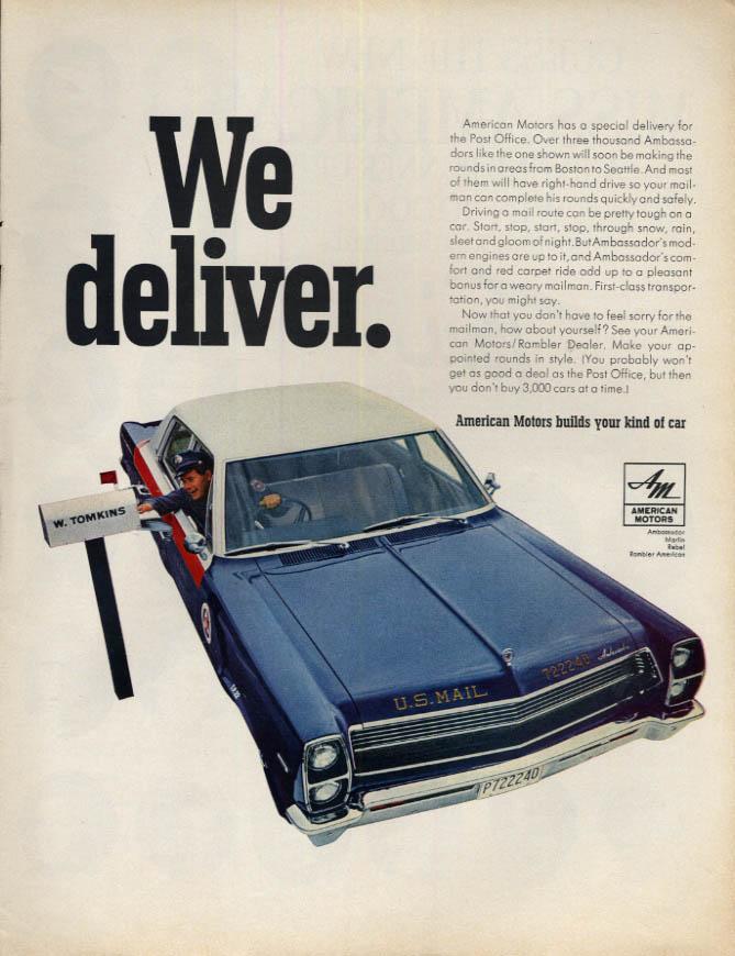 Image for We dleiver. American Motors Ambassador Post Office version ad 1967 L