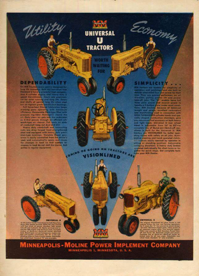 Image for Utility Economy - Minneapolis-Moline Tractors ad 1946