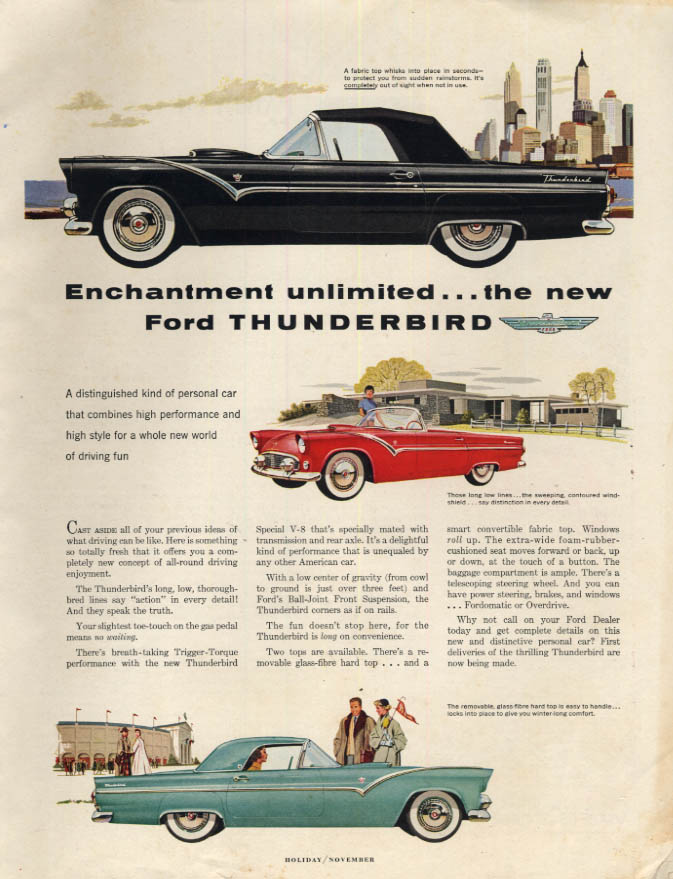Image for Enchantment unlimited - the new Ford Thunderbird ad 1955 H