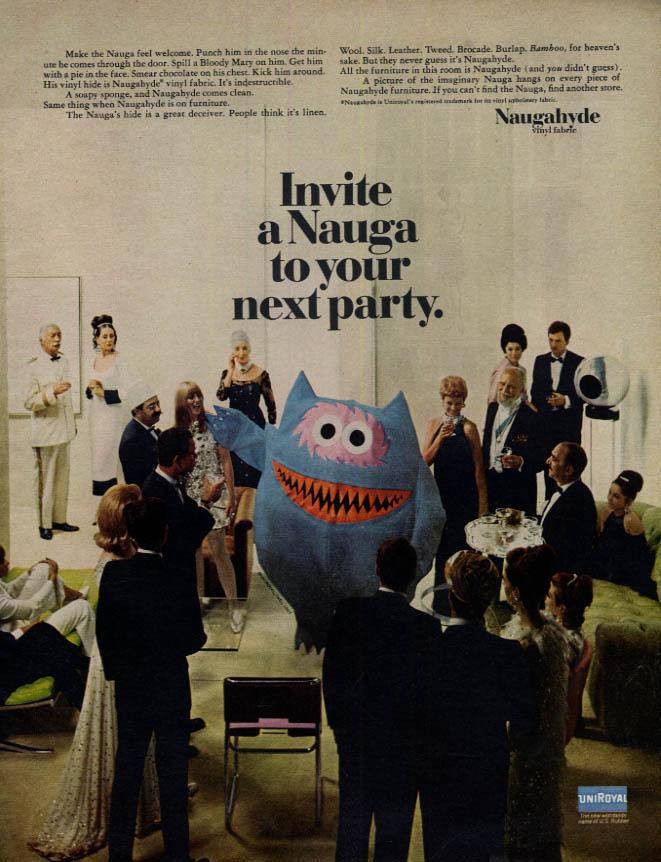 Image for Invite a Nauga to your next party - Naugahyde ad 1967 McC