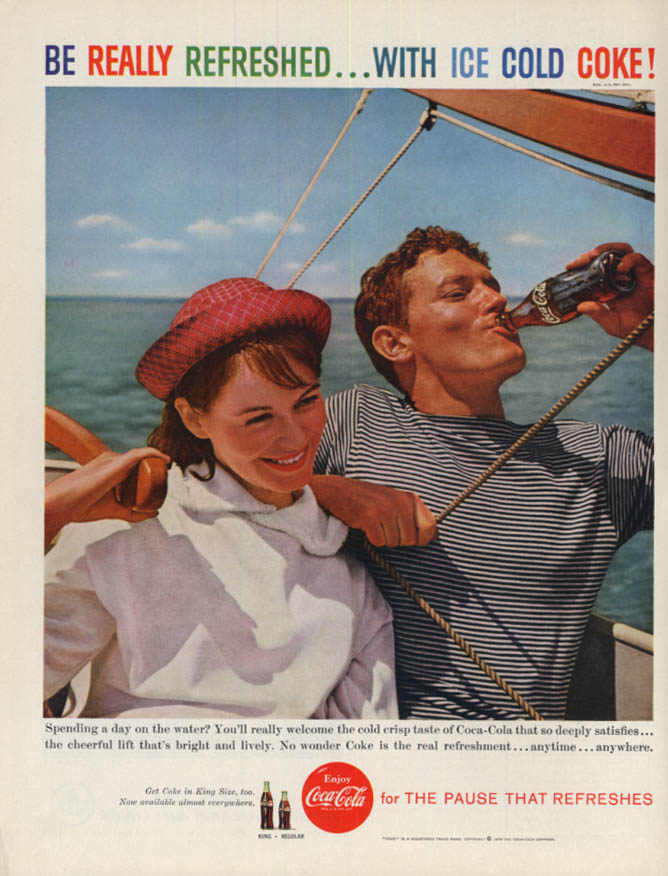 Image for Spending a day on the water? Coca-Cola ad 1959 sailing H