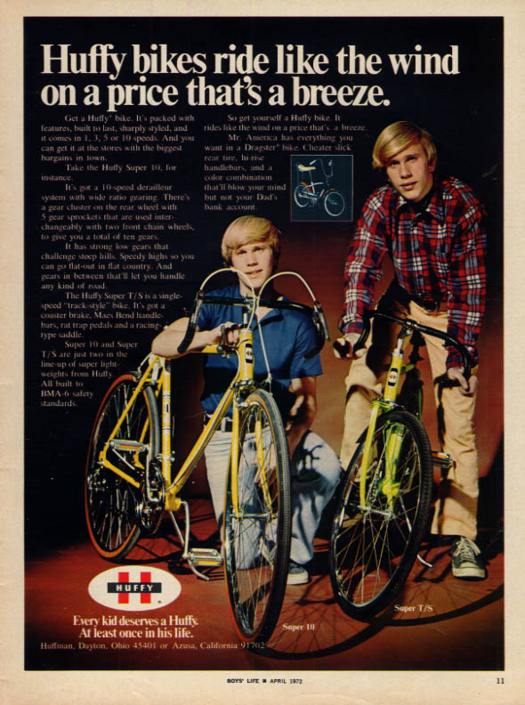 Image for Huffy bicycles ride like the wind on a price that's a breeze ad 1972 BL