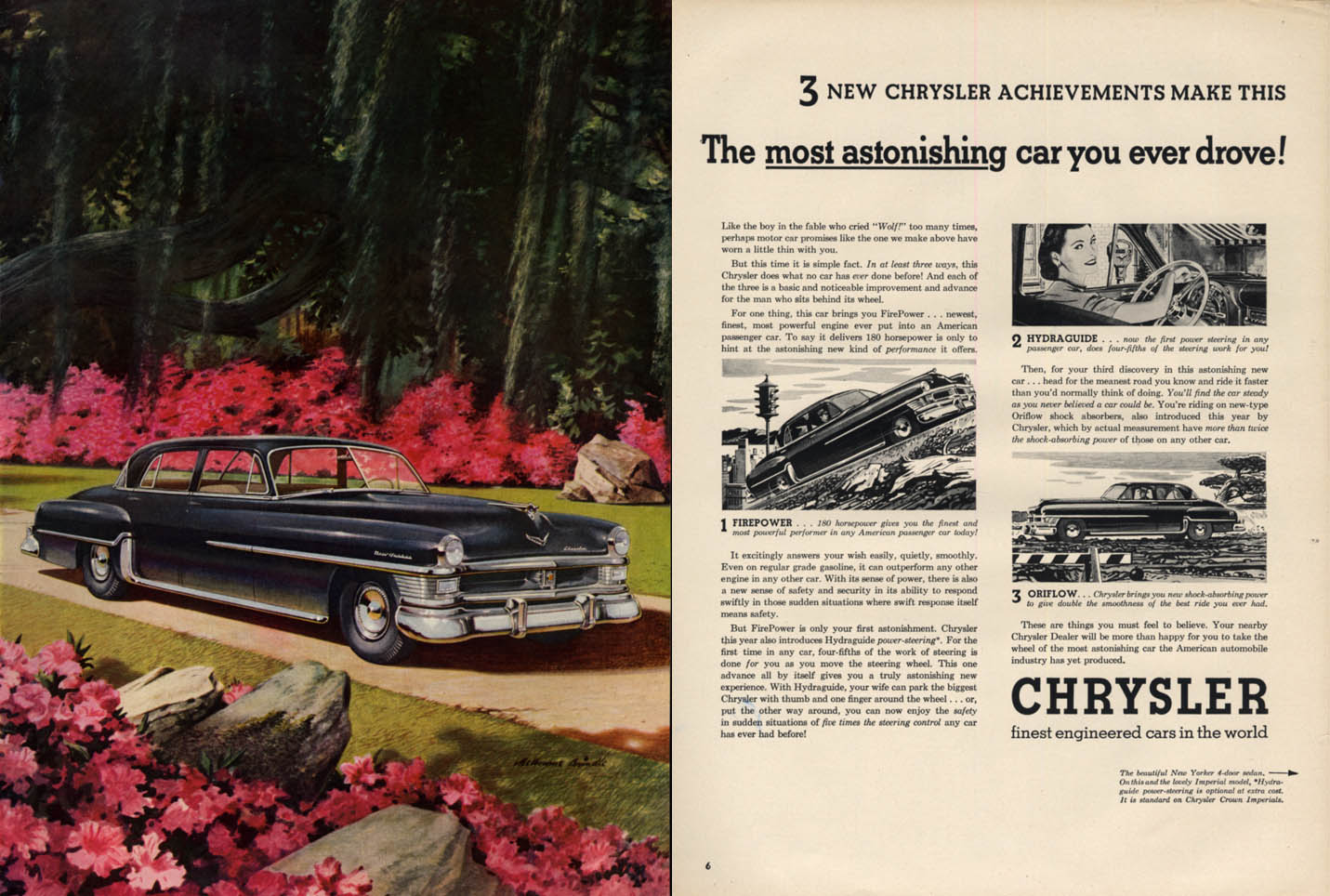 Image for Most astonishing car you ever drove! Chrysler New Yorker ad 1951 L
