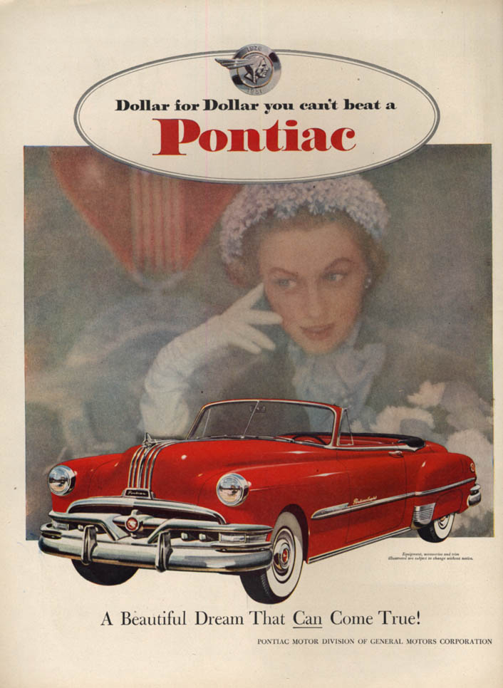 Image for A Beautiful Dream That Can Come True! Pontiac Convertible ad 1951 L