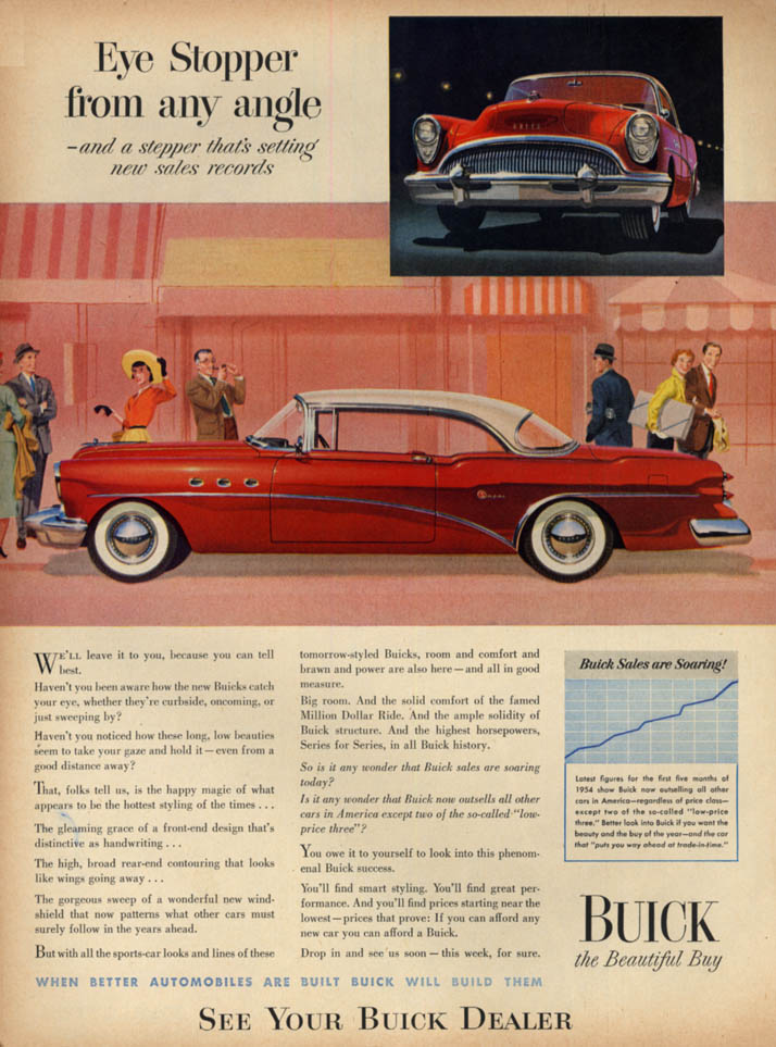 Image for Eye stopper from any angle - Buick Super 2-door hardtop ad 1954 L