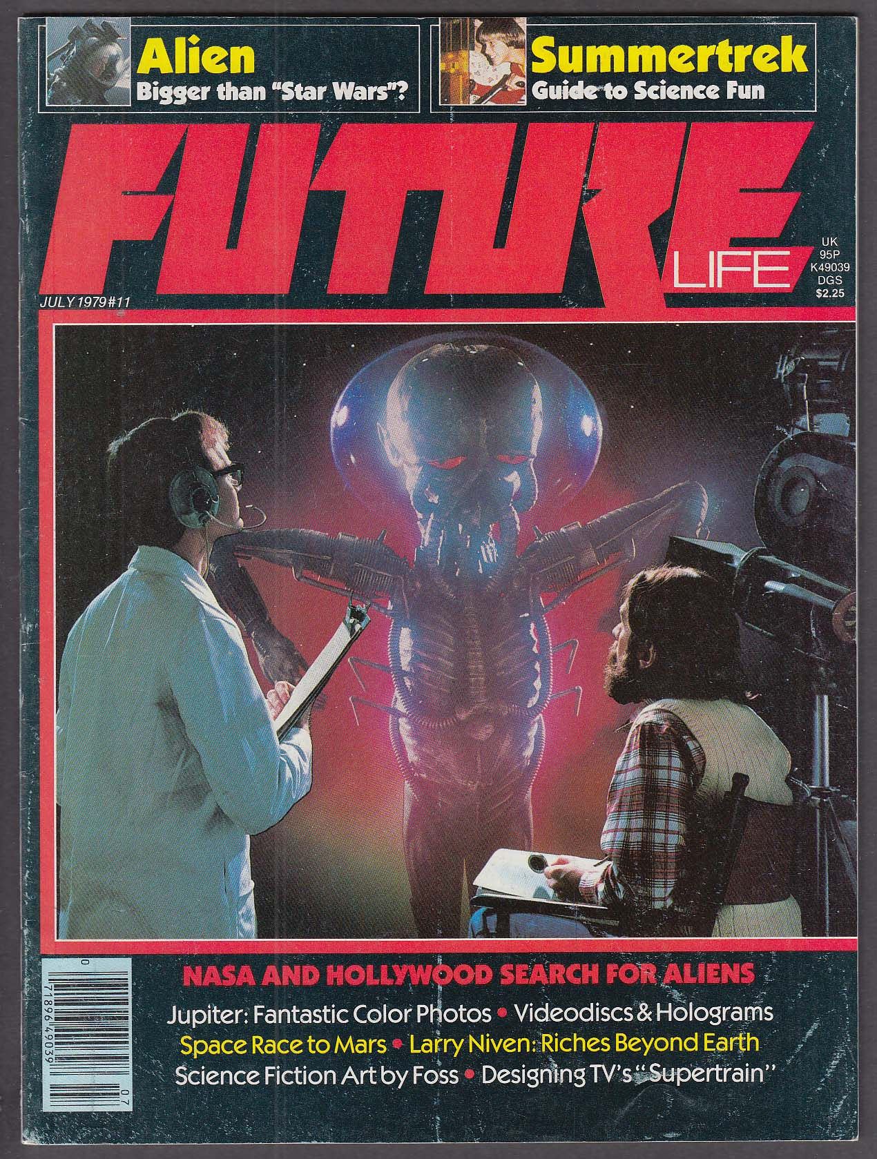 Image for FUTURE LIFE #11 Alien SETA Summertrek NASA Jupiter photos Foss art 7 1979