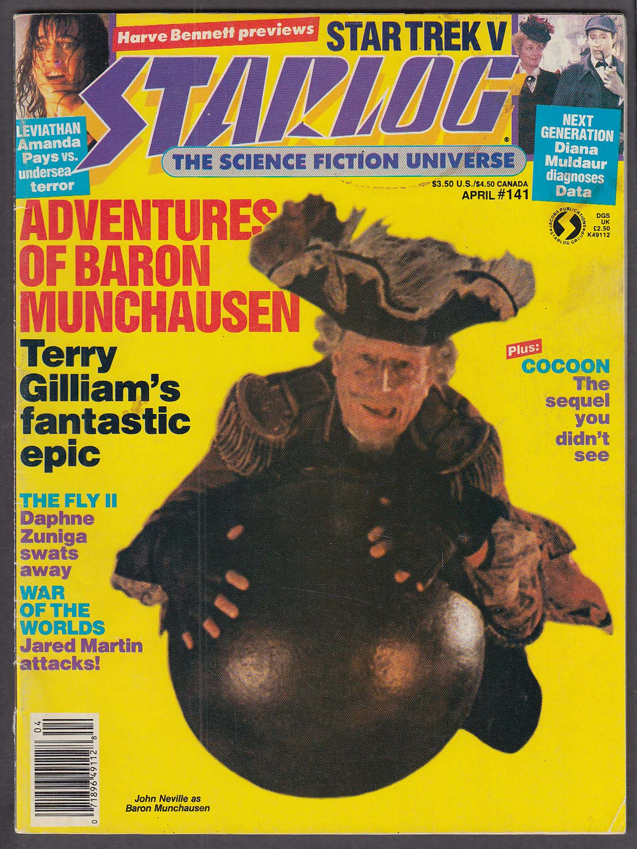 Image for STARLOG #141 Terry Gilliam Baron Munchausen Leviathan Star Trek V Fly II 4 1989