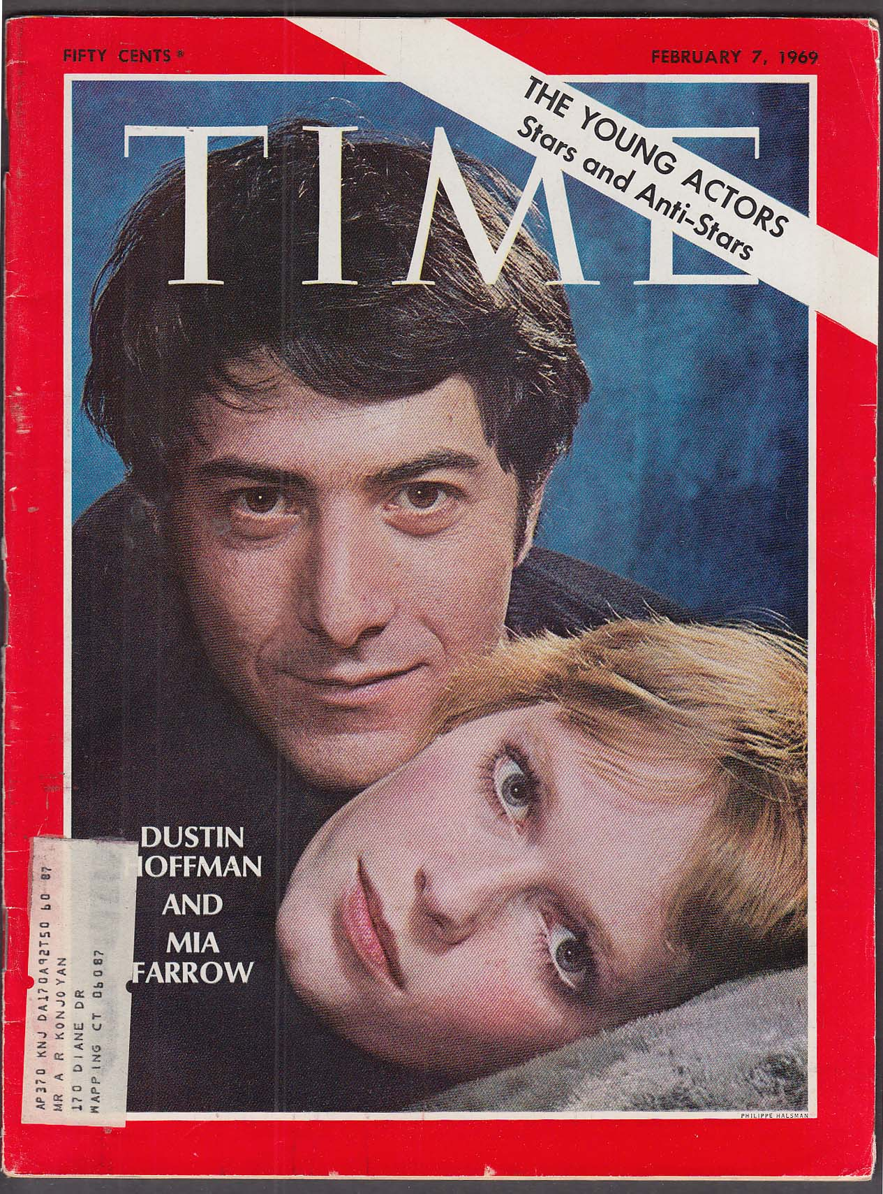 Image for TIME Dustin Hoffman Mia Farrow 2/7 1969