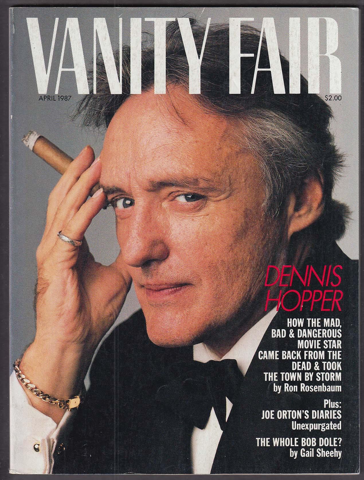 Image for VANITY FAIR Dennis Hopper Joe Orton's Diaries 4 1987