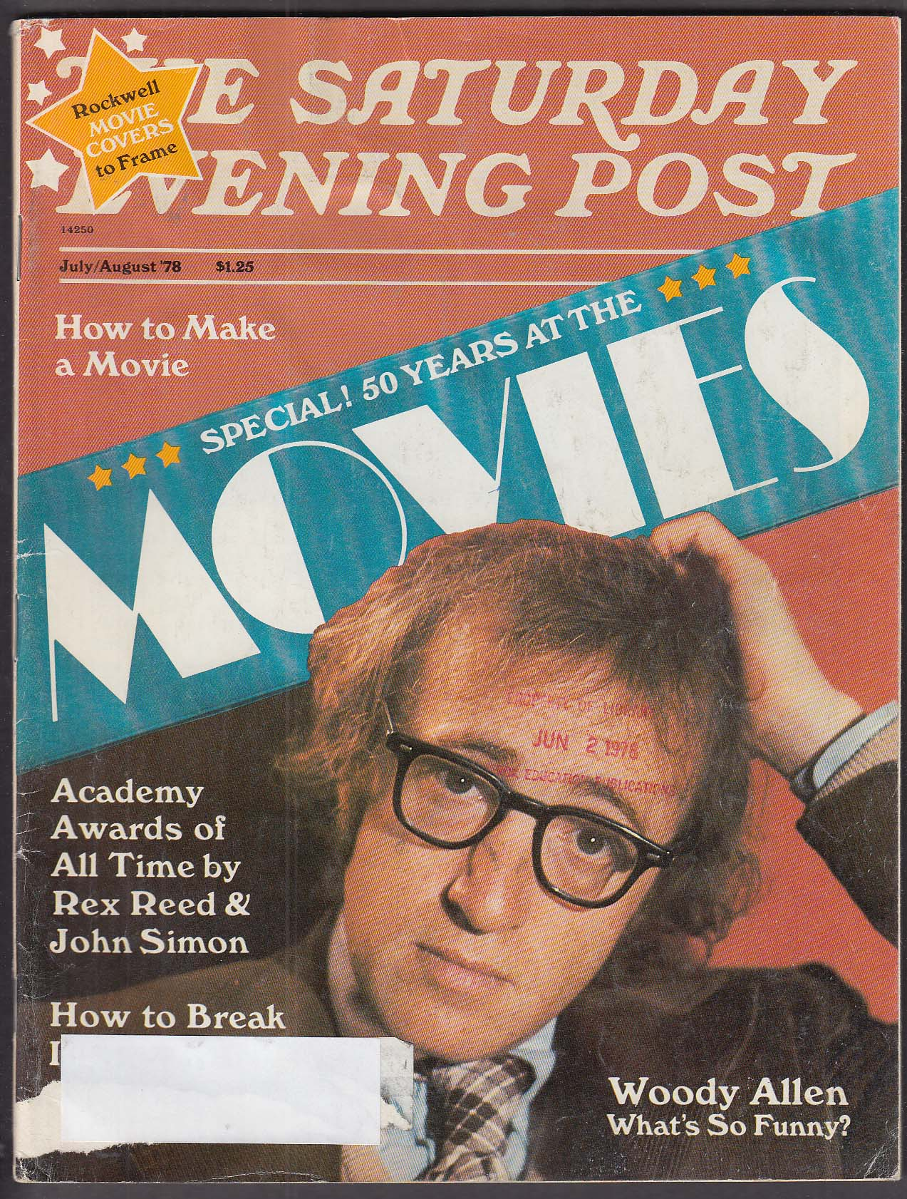 Image for SATURDAY EVENING POST Woody Allen Rex Reed John Simon 7-8 1978