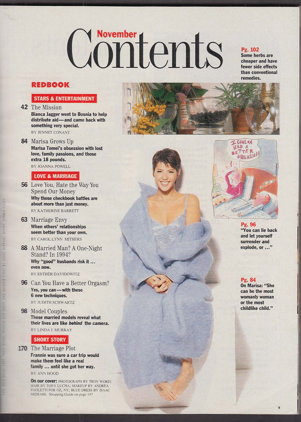 Image for REDBOOK Marisa Tomei; Herbal cures; avoiding stress, etc. 11 1994