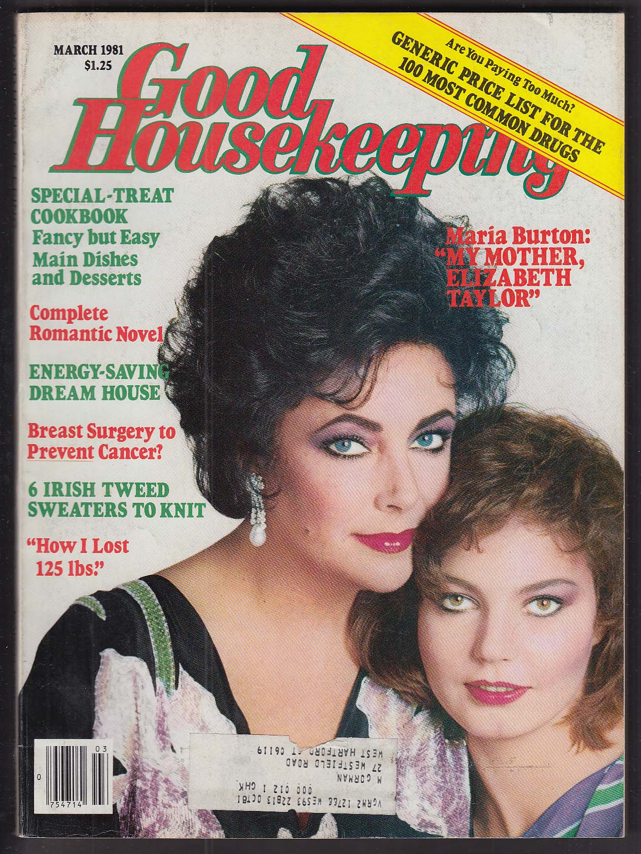 GOOD HOUSEKEEPING Liz Taylor Maria Burton 3 1981